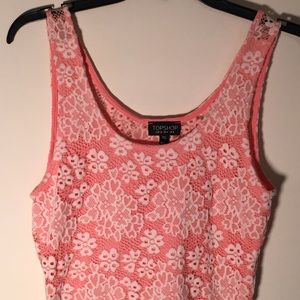 Topshop Lace Tank/unlined in back